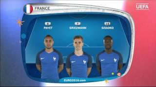 France line-up v Iceland: UEFA EURO 2016