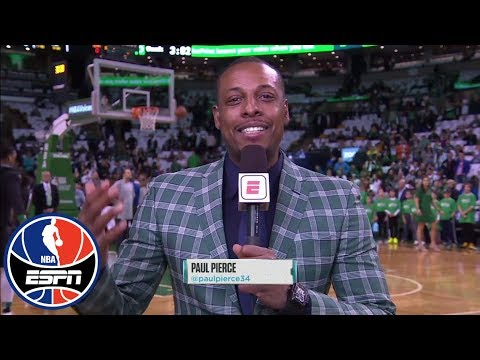Paul Pierce and his jazzy blazer are all smiles for jersey retirement | NBA Countdown | ESPN