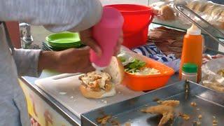 Dhaka Street Food 2016   Street Chicken Burger  Amazing street food:  Part- 1