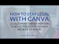 HOW TO BE LEGAL WITH YOU CANVA DESIGNS