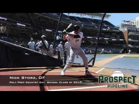 Nick Storz, OF, Poly Prep Country Day School, Swing  Mechanics at 200 FPS