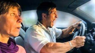 Audi R8 Testfahrt mit Mama - Supercar Reaktion :D
