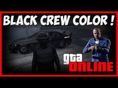 How To Get Black Crew Colour (GtaV)