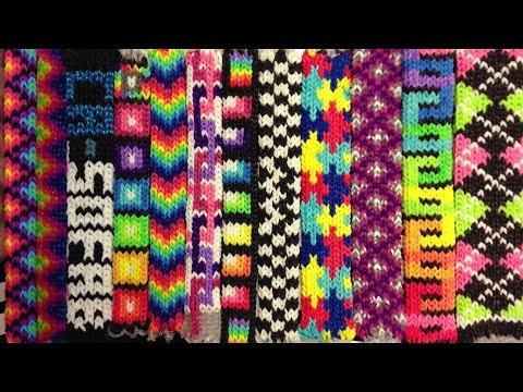 Tight Knit Bracelet Design On The Rainbowloom Youtube