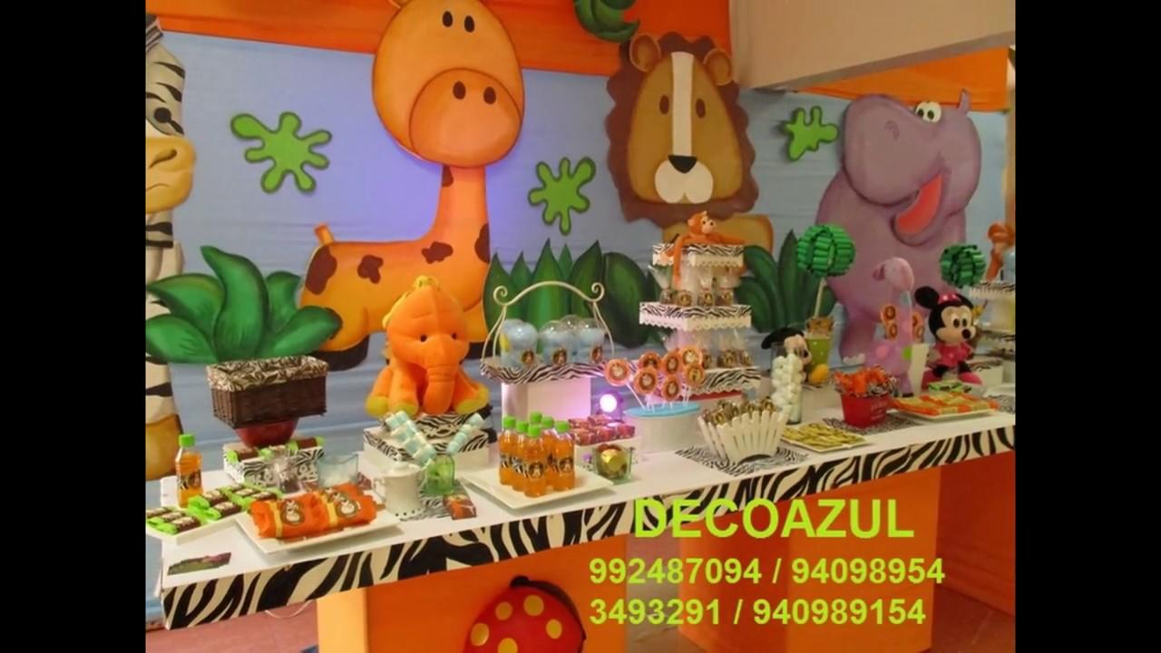 Safari decoracion de fiestas infantiles decoraciones - Ideas decoracion fiestas ...