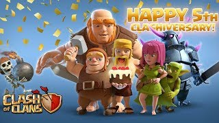 ALL 5TH CLASHIVERSARY EVENTS UPDATE!! NEW TROOPS,NEW EVENTS,NEW BUILDER HUTS!! - CLASH OF CLANS(COC)