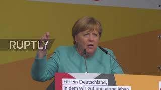 Germany  'We can only understand each other if we speak German' – Merkel on campaign trail