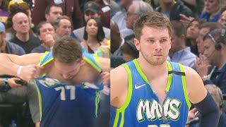 Luka Doncic Rips His Jersey After Getting Angry Missing Free Throws! Lakers vs Mavericks