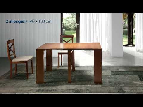 Gain de place ChezSoiDesign TABLE CONSOLE ÉVOLUTIVE
