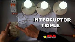 Cómo instalar un interruptor triple