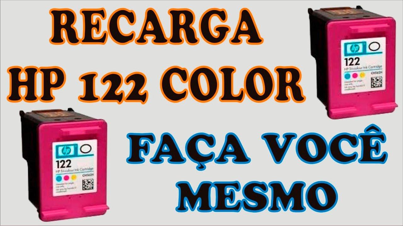 Manual De Recarga HP 122 Color Recycle Print