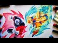 Como dibujar a GOKU Ssj Blue vs JIREN dragon ball super. How to Draw GOKU Ssj blue vs JIREN the Grey