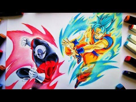 Como Dibujar A Goku Ssj Blue Vs Jiren Dragon Ball Super How To