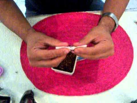 Como hacer un cigarro a mano tipo cono hand rolling for Como puedo hacer un cono