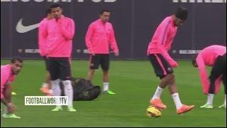 Neymar Teaching Some Skills ● Barcelona Training Session (HD)