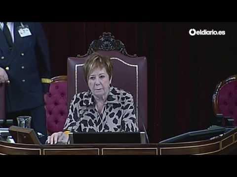 """Villalobos expulsa de la tribuna a Tardá (ERC) y manda """"a almorzar"""" a Coscubiela (ICV)"""