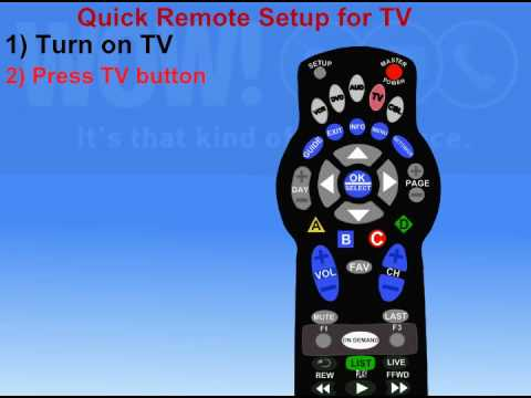 Programming Your WOW! REMOTE to your TV