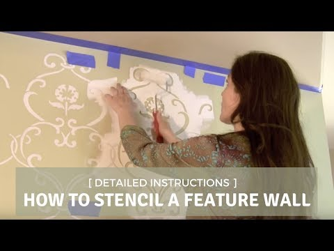 How to Stencil a Feature Wall with Cutting Edge Stencils