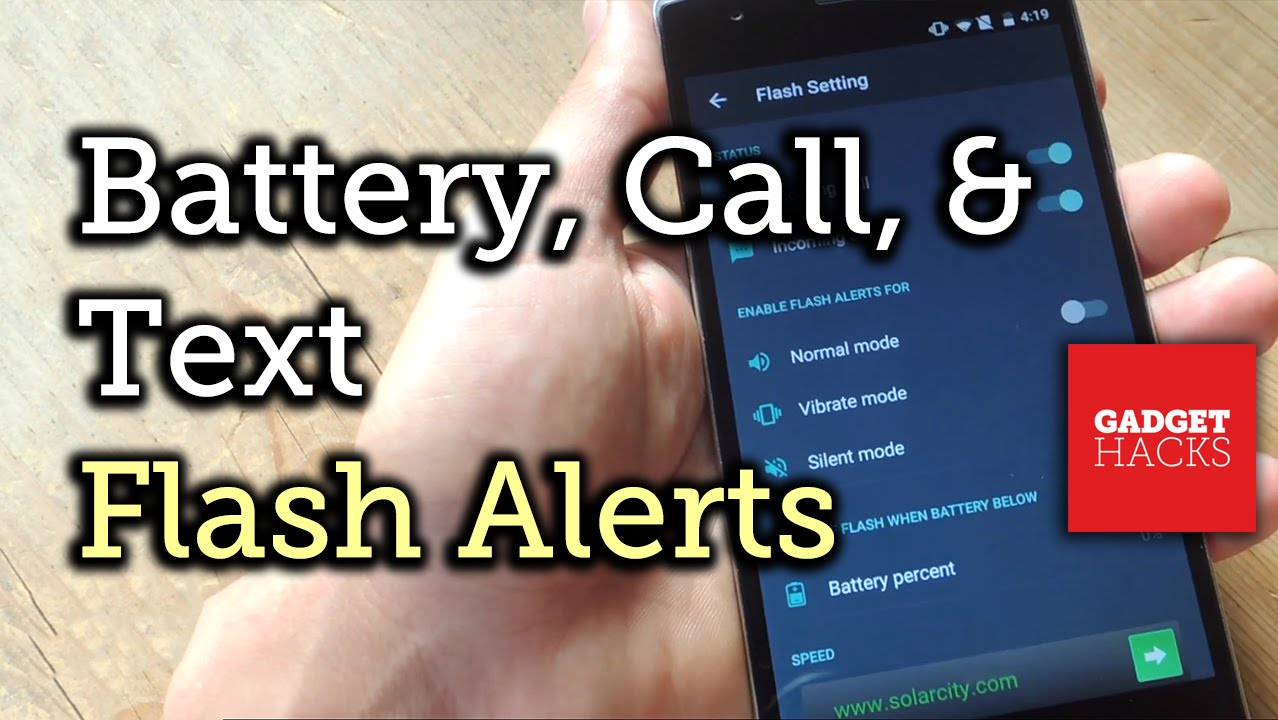 How to Enable LED Flash Alerts for Calls, Texts, & Battery Warnings