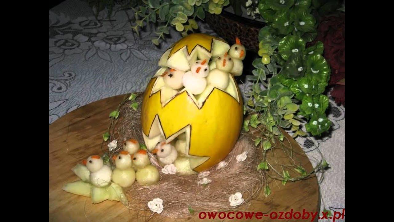 Carving wielkanoc owocowe ozdoby dekoracje youtube