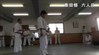 新極真会福島支部三瓶道場、審査会での掛け組手。2014年12月14日.