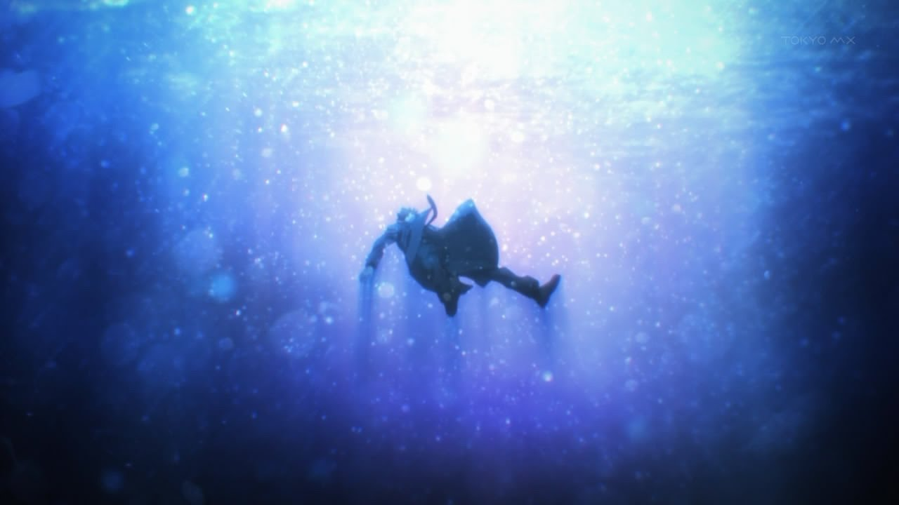 Image result for anime drowning