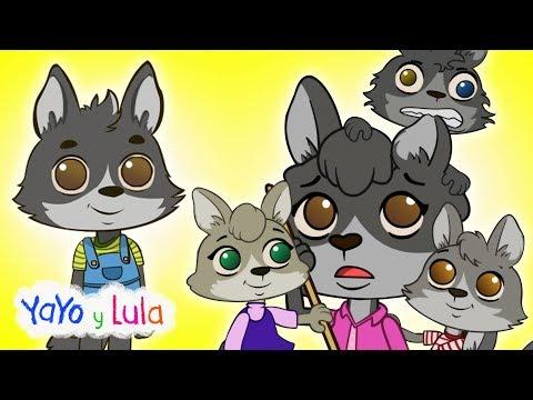 Cinco Lobitos - Canciones Infantiles en Español y Diversión para Niños | Yayo y Lula