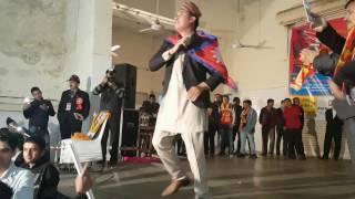 Baikuntha Mahat with Hamro Nepal Hami Nepali on the Stage in Delhi  jan 26,2017.