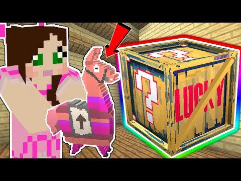 Minecraft: *MYTHIC* FORTNITE LUCKY BLOCK!!! (LEGENDARY LOOT LLAMAS & MYTHIC GUNS!) Mod Showcase
