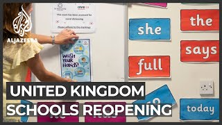 Some schools reopen in UK but parents wary on safety