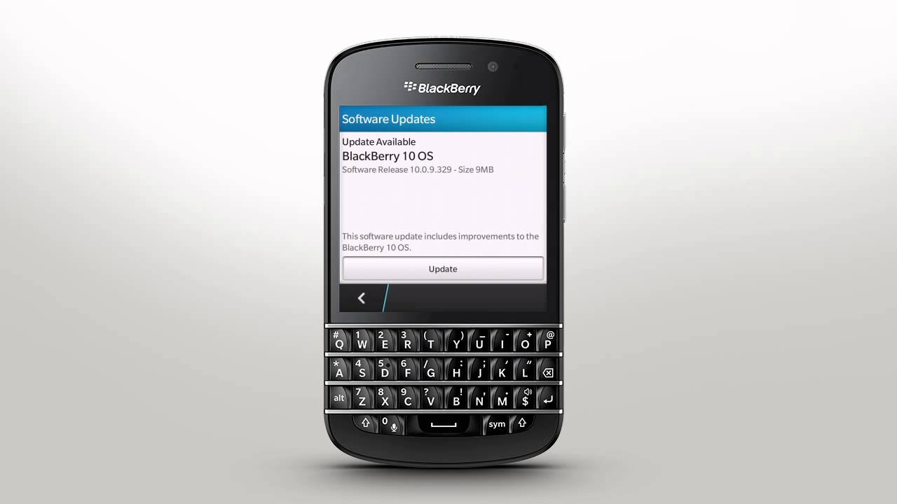 Update Your Smartphone Software: BlackBerry Q10 - Official How To Demo