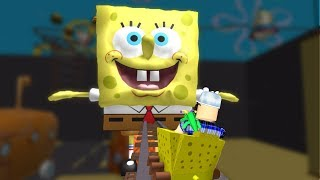 ROBLOX: I WAS SWALLOWED BY THE GIANT SPONGEBOB ON THE ROLLERCOASTER! -Play Old man