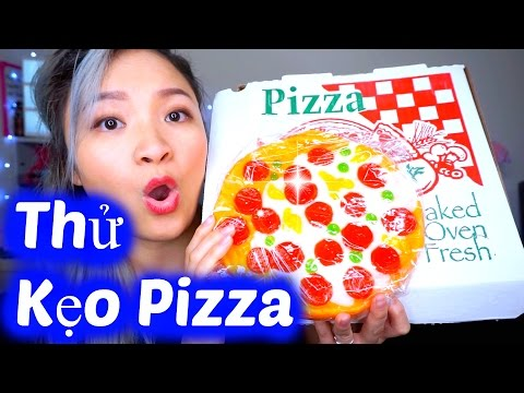 Try Pizza Candy | Thử Ăn Vặt Kẹo Dẻo Pizza ♡ BeeSweetiee