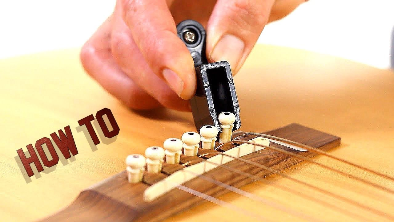 how to remove guitar strings acoustic guitar maintenance youtube. Black Bedroom Furniture Sets. Home Design Ideas