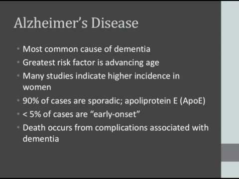 Dementia and Memory Loss