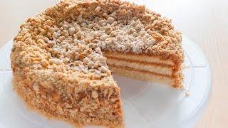Торт с вареной сгущенкой и орехами. Просто и вкусно