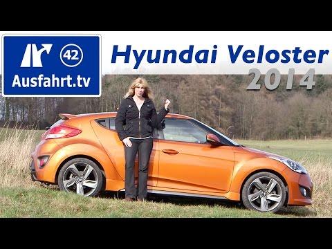 2014 Hyundai Veloster 1.6 Turbo Style Fahrbericht der Probefahrt Test Review
