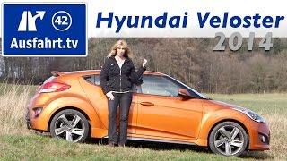2014 Hyundai Veloster 1.6 Turbo Style Fahrbericht der Probefahrt Test Review смотреть