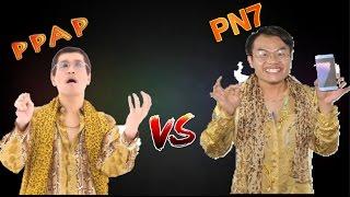 PPAP Pen Pineapple Apple Pen Vs New PN7 #JUSTFORFUN