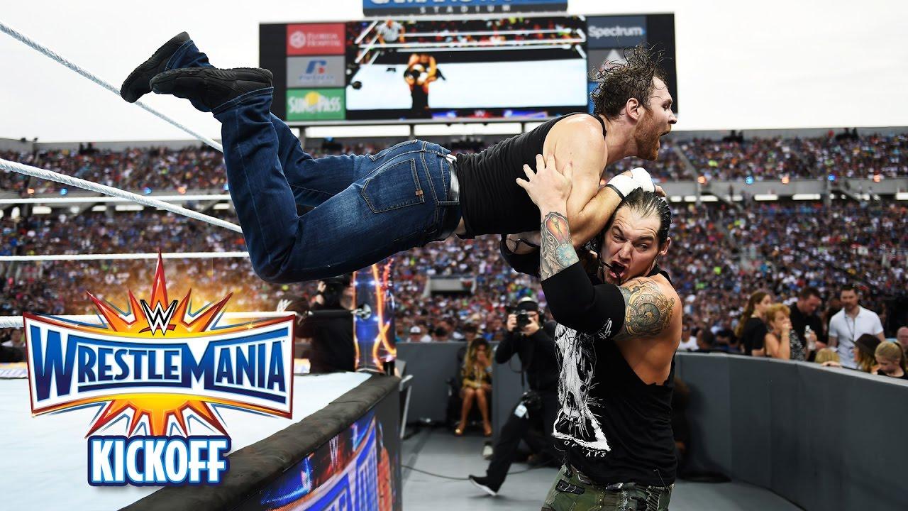 Download Dean Ambrose vs. Baron Corbin - Intercontinental Title Match: WrestleMania 33 Kickoff