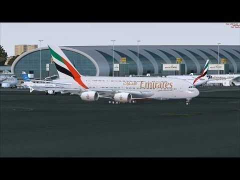 FSX A380 Dubai Extreme Aerobatic Flyby [AWESOME GRAPHICS]