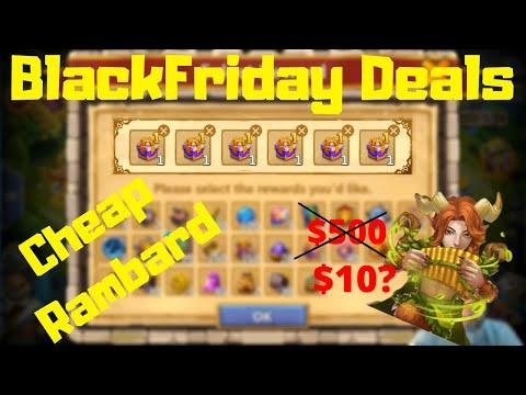 Blackfriday Deals | Cheap Rambard | Good Rewards | $30 Pack | Castle Clash