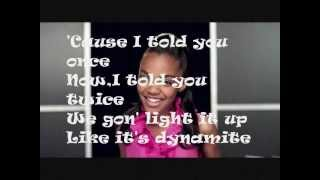 China Anne McClain - Dynamite Lyrics