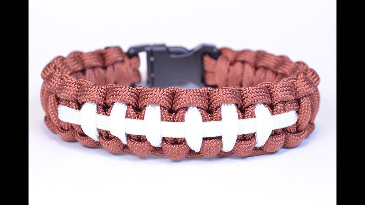 Make a football themed paracord survival bracelet boredparacord