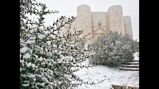 La magia della neve a Castel del Monte