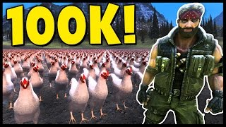 Ultimate Epic Battle Simulator - 100,000 Chickens vs 1 Chuck Norris! 1 Penguin vs Thousands - UEBS