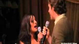Lea Michele and Jonathan Groff singing You