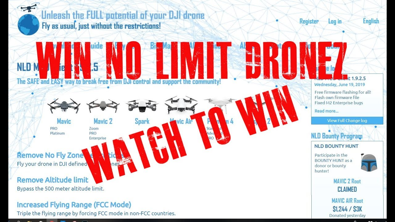 No limit dronez give away FREE NLD  Remove NFZ, remove altitude limits etc