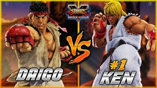 SFV/SF5 - Daigo (Ryu) fights Kenpi (#1 Online KEN) in this epic Ran...