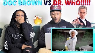 """Epic Rap Battles Of History """"Doc Brown Vs Doctor Who"""" REACTION!!!!"""
